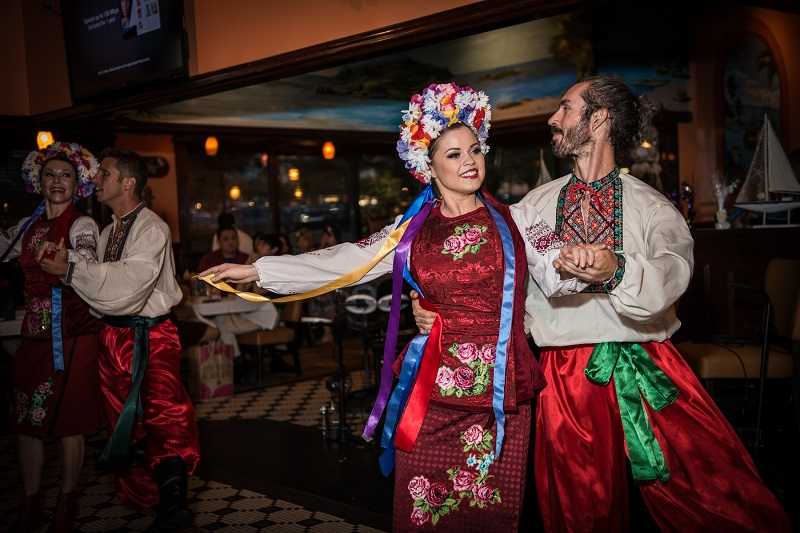 Barynya World Cabaret Show, corporate event, Virginia, Captain Mas Seafood Crab House, Cascades Marketplace