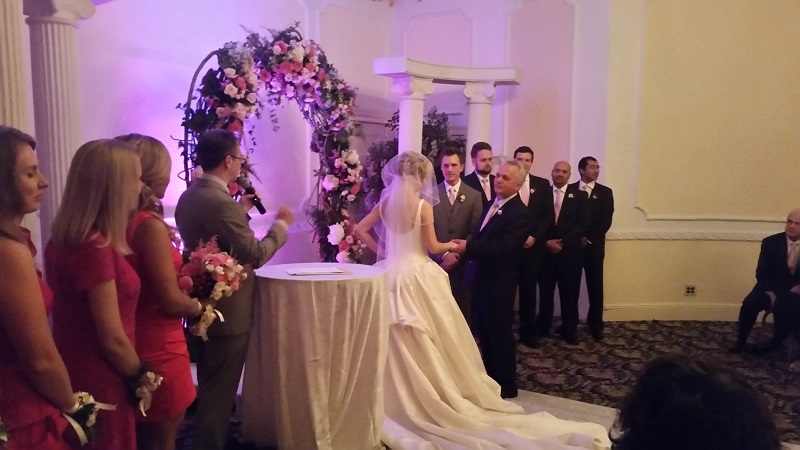 Grand Prospect Hall, Brooklyn, NY, Russian-American wedding, Master of Ceremony, MC, Tamada, New York