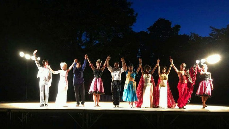 NY World Cabaret Show at the Untermyer Park, Yonkers, New York