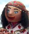 Gypsy fortune teller costumed character