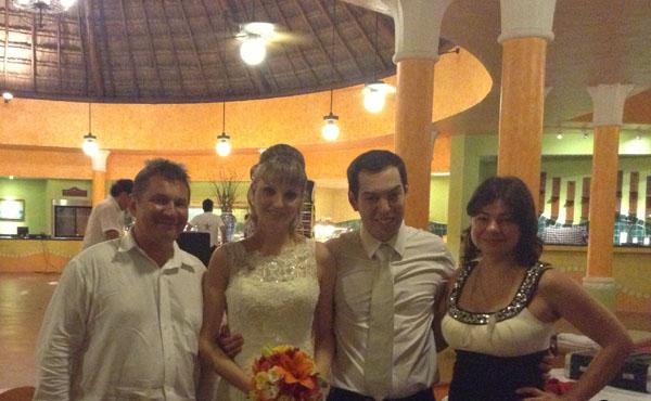 Russian-American wedding, Tamada Mikhail, Iberostar Paraiso Del Mar, Playa Paraiso, Mexico